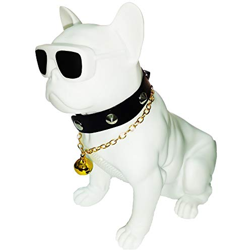 Bluetooth Speakers French Bulldog Art Bluetooth Speakers, Portable Bluetooth Speakers, Suitable for Mobile Phones, Laptop, Tablets, TV Bluetooth Speakers (Large, White :12.99/13.18/7.36in)
