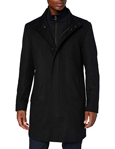 HUGO Mens Mayer2041 Dress Coat, Black (1), 50
