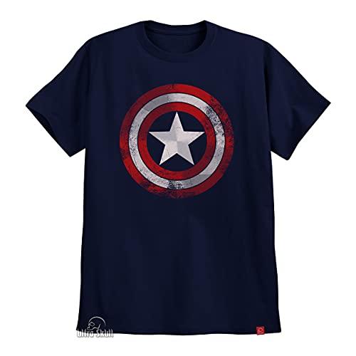 Camiseta Capitão América Camisa Escudo Steve Rogers XG