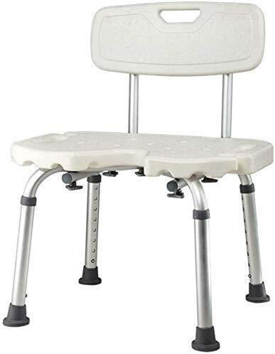PanYFDD Taburete de ducha Silla de baño con respaldo antideslizante de aluminio ligero y altura ajustable personas mayores con discapacidades llevan 150 kg