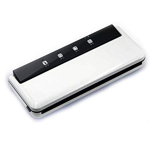 DXQDXQ Ice Elettrico Multifunzione Macchina Sottovuoto per Alimenti Automatico Manuale Sigillatore Sottovuoto per Alimenti Freschi Secchi Umidi Domestico Uso Aziendale Proprio Home (Color : White)