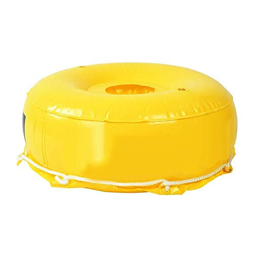 Heitune Scuba Superficie Salto del Mar Boya De Señalización De Buceo Libre Inflable Bandera-Flotador Buceo Boyas Bola Amarilla (Amarillo)