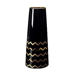 Silk Flower Arrangements LIONWEI LIONWELI 9.5'' White Gold Finish Ceramic Flower Vase Home Decor Vase and Table Centerpieces Vase - Ideal Gifts for Friends and Family, Christmas, Wedding, Bridal Shower