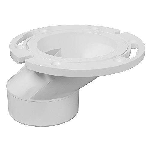 PlumBest C54402 3-Inch by 4-Inch PVC Offset Closet Flange with Plastic...