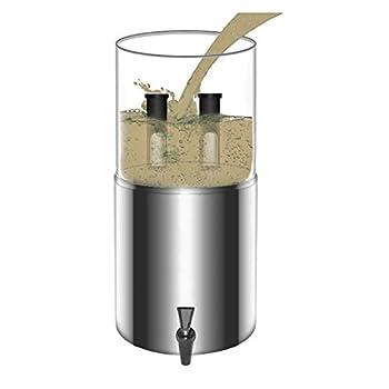 11L Seau de Filtration d'eau de Système de Filtre à Eau par Gravité 27 * 52cm pour La Préparation Aux Urgences de Randonnée à La Maison de Camping en Plein Air