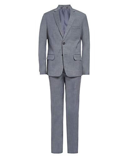 Van Heusen Boys' Big 2-Piece Formal Suit Set, Castor Grey, 16