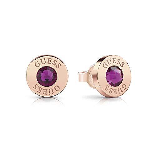Pendientes Guess Shiny Crystals rosa acero inoxidable quirúrgico chapados oro rosa UBE78105 [AC1155]