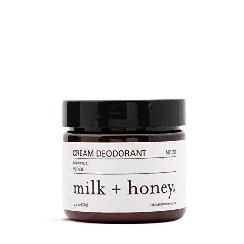 milk + honey Aluminum Free Cream Deodorant No. 20, Coconut Vanilla, 2.5 Ounce