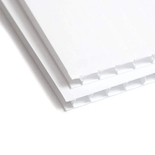 Wellpappe Kunststoff blanko Yard Schild–61x 91,4cm Blatt–Coroplast Blatt für Schilder 2Stück weiß Kunststoff Board, 4mm