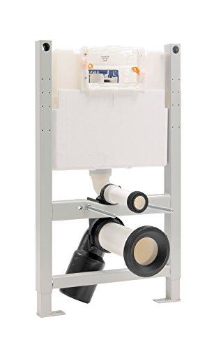 Sanitop-Wingenroth 21213 7 Vorwandelement für Wand-WC Bauhöhe 82cm mit Spülkasten mit 2-Mengen-Technik, verzinkt