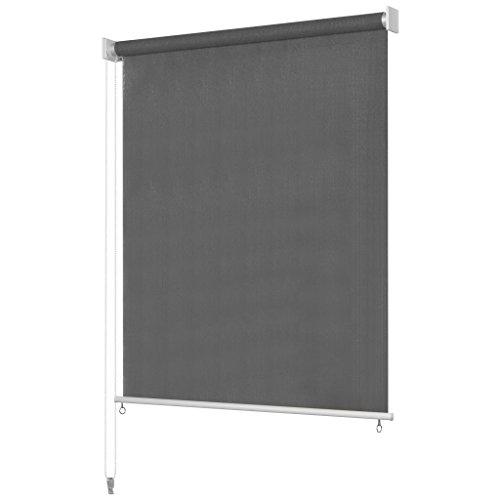 Tidyard Außenrollo Senkrechtmarkise Balkonrollo | Windschutz, Sonnenschutz und Sichtschutz Rollo | für Außenbereich, Balkon oder Terrasse| Farb- und Größenauswahl