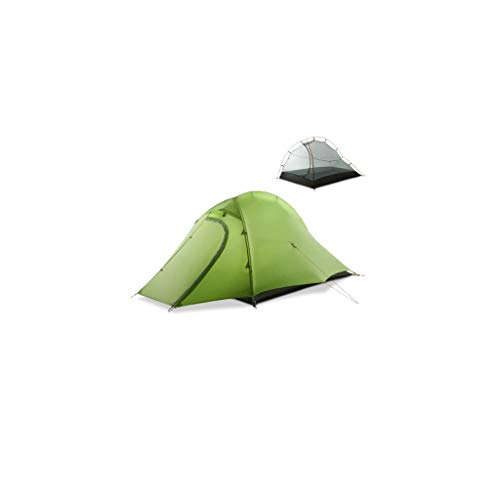 Instant Tent 2 Person Easy Set Up Double Layer Waterproof 3 Season Camping Tent for Outdoor Hiking Fishing (Color : Green)