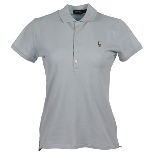 Polo Ralph Lauren Stretch Slim Fit - Polo para mujer azul claro S