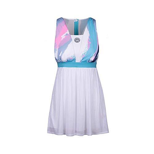 BIDI BADU Ankea Tech Dress Vestito da Tennis, Weiß, L Donna