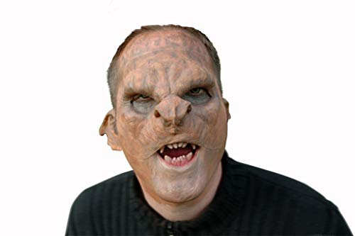 Maskworld Troll Horror-Maske aus Latex - Gruselmaske Demon hautfarben