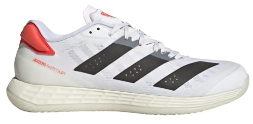 adidas Adizero Fastcourt 2.0 M, Zapatillas de Running Hombre, FTWBLA/NEGBÁS/Rojsol, 43 1/3 EU