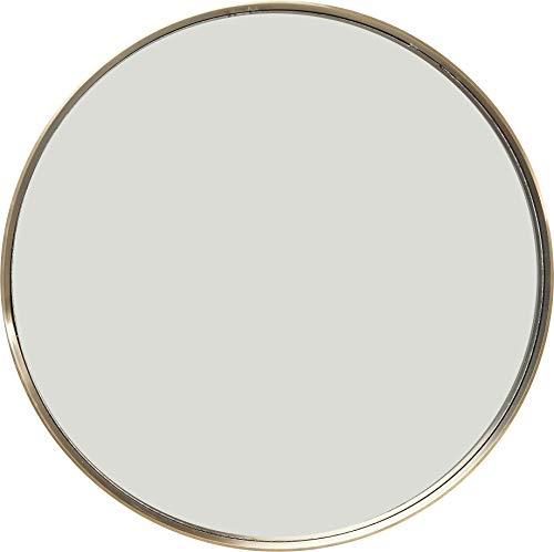 Kare Design Espejo de Pared, Redondo, Oro, 100 x 100 x 5 cm