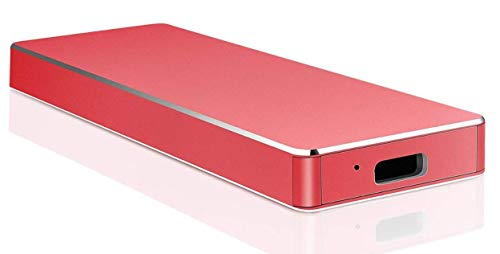 External Hard Drive 1TB 2TB, Type C External Hard Drive USB3.1 Portable HDD Storage for PC, Laptop and Mac(2TB-A Red)