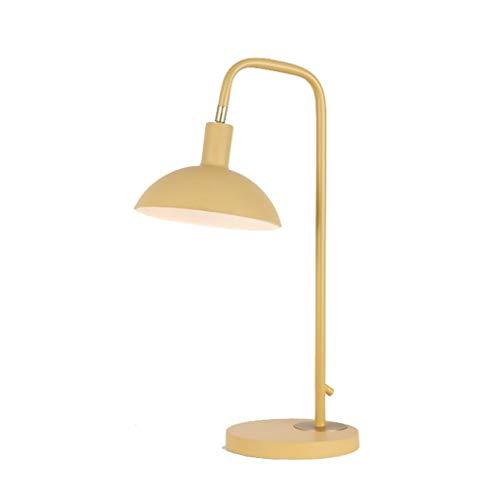 Hong Yi Fei-Shop Lampara Mesilla Nordic Moderno Minimalista Lámpara de Escritorio Sala de Estudio Dormitorio Creativo Lámpara de mesita de Noche Multicolor Opcional Lámpara Mesa (Color : C)