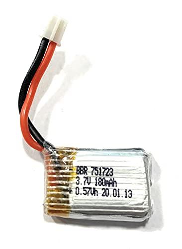 Yunique Italia - Batería de Lipo recargable de 3,7 V y 180 mAh para Mini Drone JJR/C H36 E010 E010C E011 E011C E013 GoolRC T36 NINHUI NH010 F36 H36 HS210 SANROCK GD65A RC Repuesto cuadricóptero