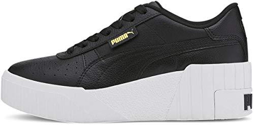 New Puma Women's Cali Wedge Sneaker Puma Black/White 8
