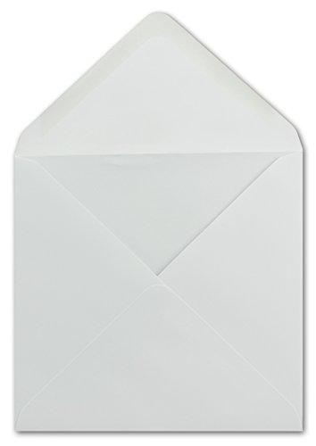 25 Quadratische Briefumschläge Weiß 15 x 15 cm 100 g/m² Nassklebung Post-Umschläge ohne Fenster ideal für Weihnachten Grußkarten Einladungen von Ihrem Glüxx-Agent