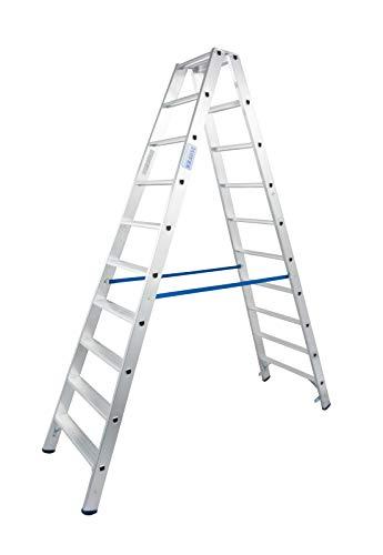 Gewicht 9,3 kg Arbeitsh/öhe 3,4 m,Leiternh/öhe 1,65 m Stufenanzahl 2x7 Alu Stufen-DoppelLeiter,