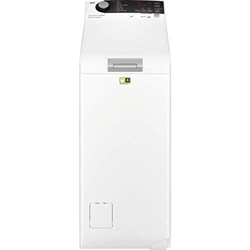 AEG L7TBE721 Lavadora de Libre Instalación, Carga Superior, 7 Kg, 1200 rpm, 10 Programas + Vapor, Programa Rápido, Inicio Diferido, Autoposicionamiento Tambor, Apertura Suave, LCD, Blanca