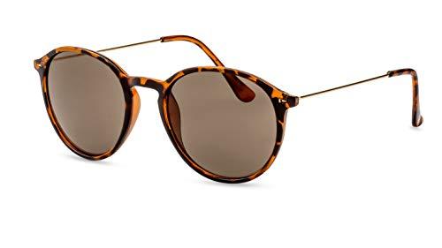 CATWALK Runde Sonnenbrille/Leichte Unisex-Sonnenbrille für kleine, schmale Köpfe/Braun getönt F2508160