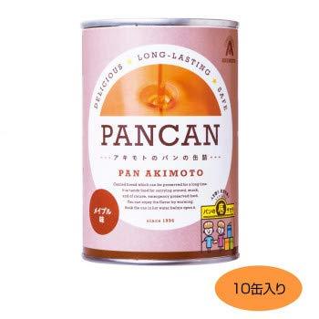 パンのアキモト 備蓄用保存パン アキモトのパンの缶詰 PANCAN 1年保存 メイプル 10缶入り