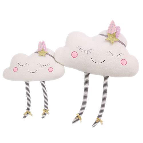Nunubee zierkissen mit füllung Instagram Nordischen Stil Wolkenform Kinderspielzeug Spielzeug Plüschmaterial Kindergarten deko Kissen Wohnzimmer Sofa Office dekorative, Wolke 40 * 50cm
