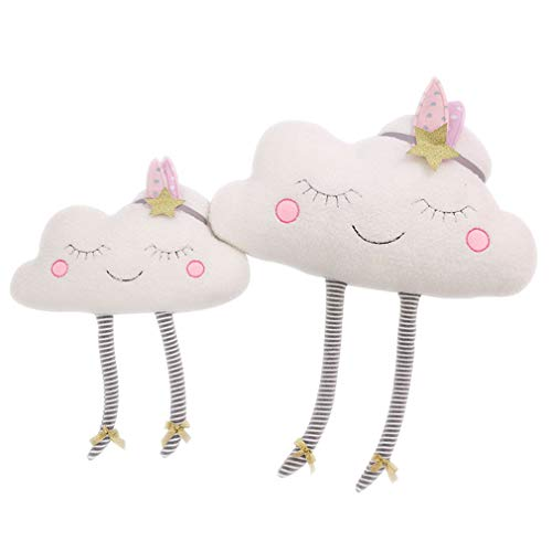 Lihan Almohada Instagram Forma de Nube nórdica Nursery Cojines de 100% Peluche bebé Juguetes Regalo decoración sofás niños Dormitorio Auto Throw, Nube 40 * 50cm/16 * 20inch