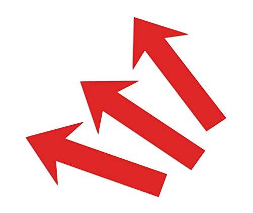 Magnetpfeile Rot 12 x 2 cm, beschreibbar, 3er- Pack Foto Magnetfolie Pfeile Memoboard magnetisch KFZ Gutachten Hinweispfeil