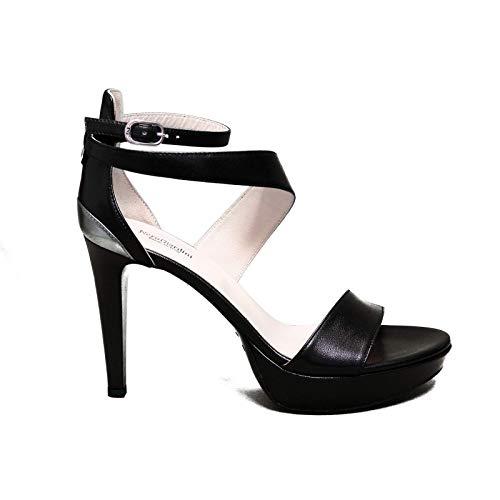Nero Giardini elegante vrouw sandaal met hoge zwarte hakken E012820DE artikel 100 nieuwe collectie lente zomer 2020