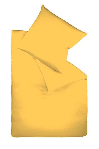 Fleuresse 9200 colours Interlock Jersey Bettwäsche aus 100% Baumwolle, Oekotex Standard 100, 135 x 200 cm, gelb