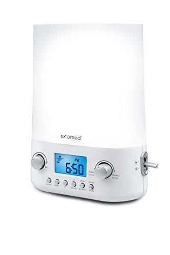 Ecomed WL-50E Lichtwecker mit Radio, Sonnenaufgang, Naturklänge, mehrere Lichtintensitäten für Kinder und Erwachsene