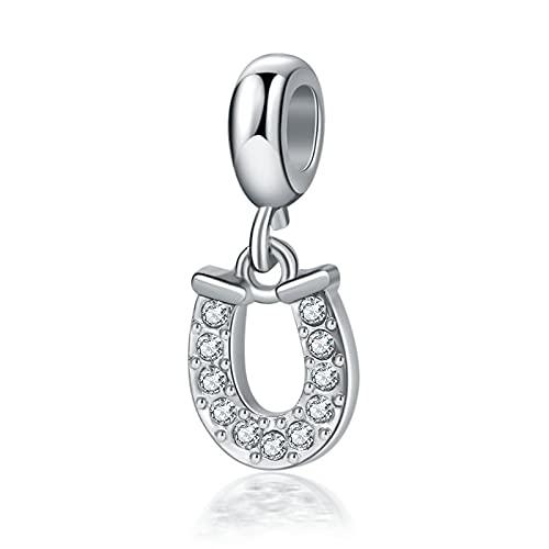Colgante en forma de U de Pandora 925 Sterling Silver DIY Jewelry Charm para pulseras, collares