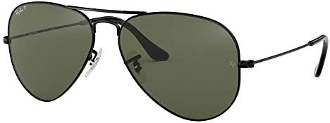 Ray Ban RB3025 AVIATOR LARGE METAL 002 58 58M Black Green Black Size 58 mm product image