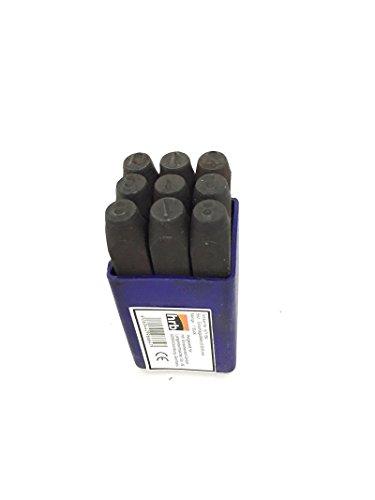 HRB 9 TLG. Zahlenstempel, Schlagzahlen Satz, Verschiedene Größen 2-12 mm (Schlagzahlen 2,5mm)