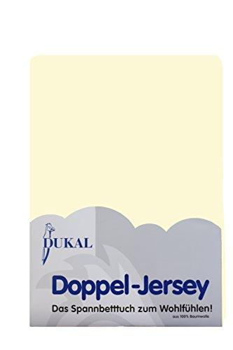 Dukal, Spannbettlaken, für runde & achteckige Matratzen! Durchmesser ca. 240-245 cm, aus hochwertigem DOPPEL-Jersey (100% Baumwolle), Farbe: Creme
