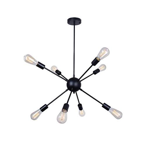 Industriële hanglamp retro eettafel kroonluchter zwart (afmetingen, 12 lampen), 8 lampen (kleur: 12 lampen)