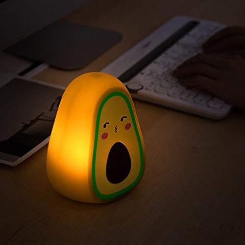 IMIKEYA Luz de Noche de Aguacate Luz de Noche de Silicona de Dibujos Animados Lámpara de Noche Encantadora de Aguacate Palta Luz de Color Que Cambia para La Cama del Dormitorio de Los