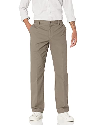 Amazon Essentials Men s Classic-Fit Wrinkle-Resistant Flat-Front Chino Pant  Taupe  38W x 32L