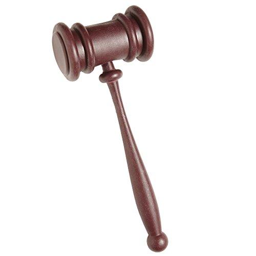 Amakando Martillo de subasta, martillo de juez para carnaval, accesorio para disfraz de abogado, accesorio para profesor