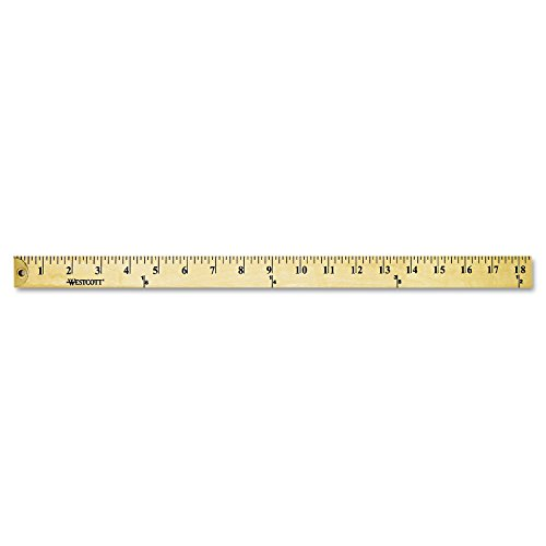 Westcott 10425 Wood Yardstick with Metal Ends, 36-Inch