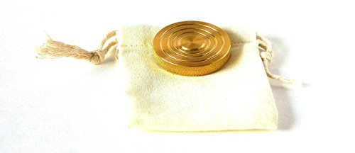 THE FLATTOP - BRASS HANDMADE EDC SPINNING TOP - MADE IN THE USA - Gift for Dad