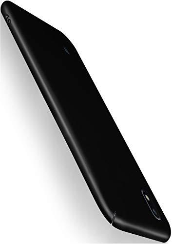 moex Alpha Case für Samsung Galaxy A10 Hülle Stoßfest und Leicht Handyhülle Extra Dünn, Super Slim Schutzhülle Ultra Air Hybrid PC Hardcase aus Kunststoff - Matt Schwarz