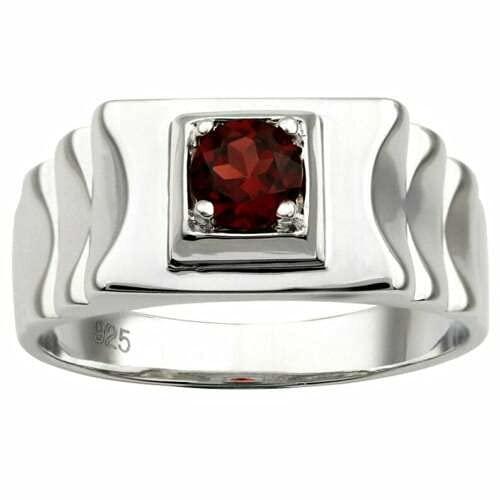 5 popular Natural Garnet Band 4 mm Ring Sterling In stock Round Silver Garne