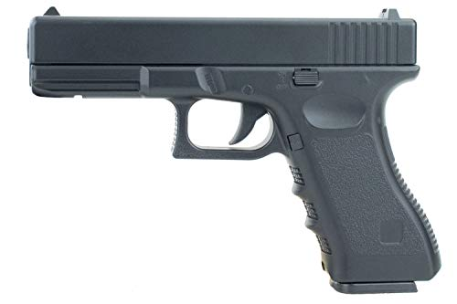 SWE Softair Voll Metall G17 V20 Pistole Federdruck Schwarz Kaliber 6mm BB <0,5 Joule Airsoft Vollmetall Maßstab 1:1