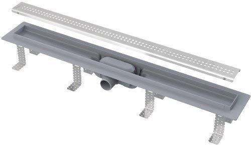 Preisvergleich Produktbild Duschrinne Ablaufrinne Bodenablauf APZ9 85 cm komplett mit Rost